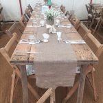 12' Vintage Trestle Tables