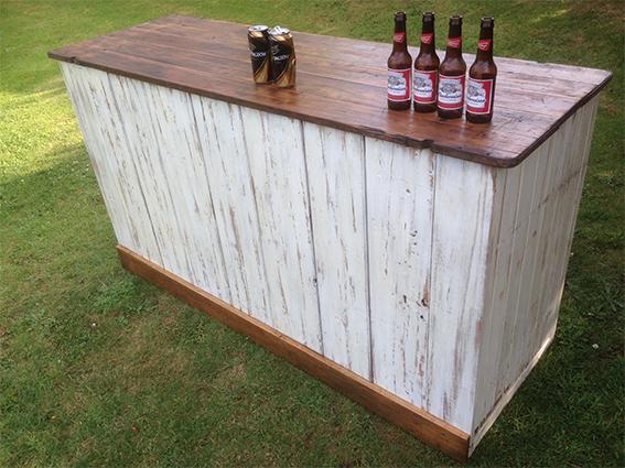 6' Limewashed Bar