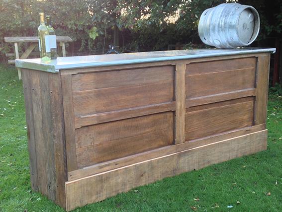 7' Oak Bar