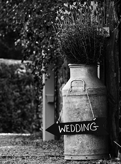 Milk churn hire by vintage Marquees